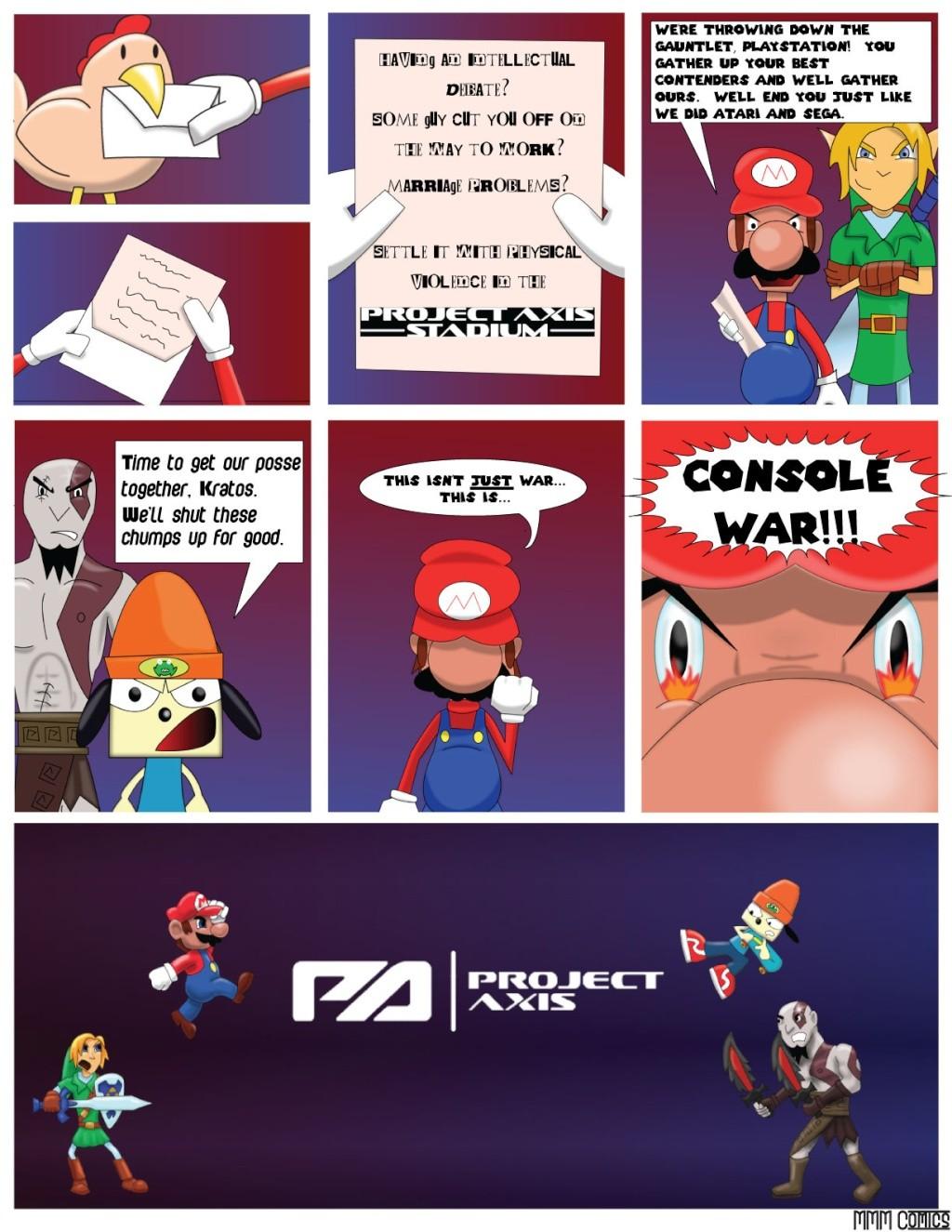 MMM Comics presents:  Project Axis Comics! (NEW COMIC UP! 9/14/2014) Projec14