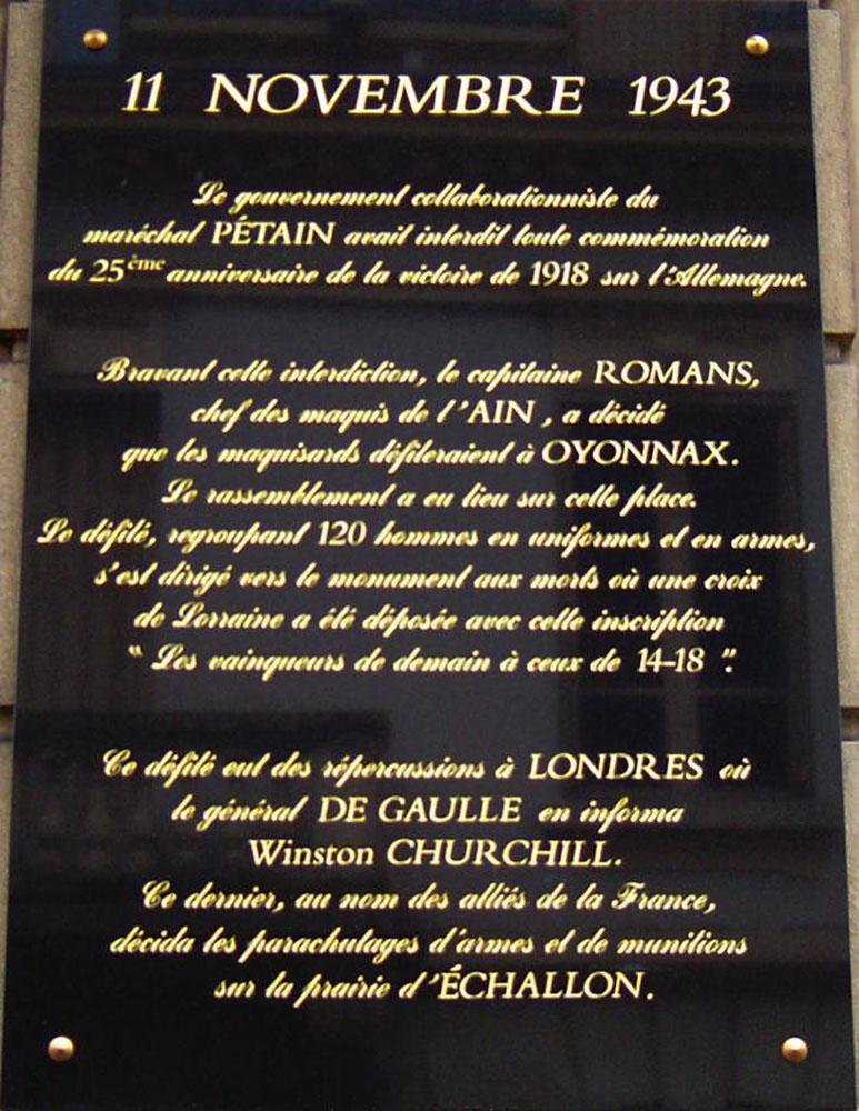 11 novembre 1943 : le défilé d'Oyonnax 396010