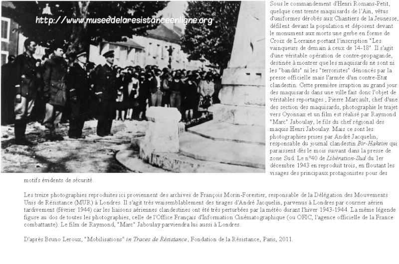 11 novembre 1943 : le défilé d'Oyonnax 399811