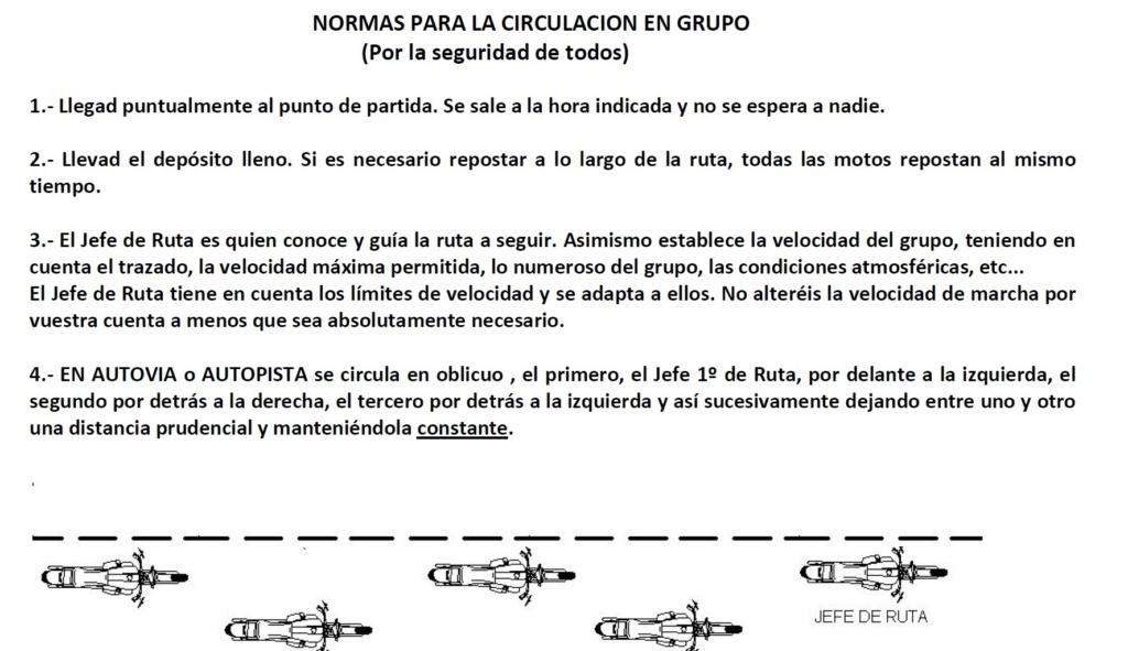 MUY IMPORTANTE: NORMAS CIRCULACION EN GRUPO Normas17
