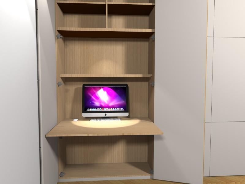 Question meuble salon avec espace bureau intégré