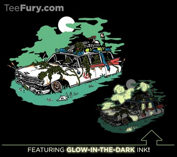 T-Shirt Ecto-1 Hanté Glow In  The Dark Bmbq0t10