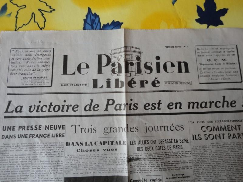 document d'epoque N°2 LIBERATION DE PARIS Dsc06012
