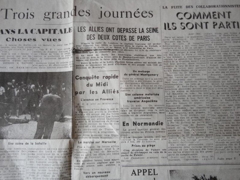 document d'epoque N°2 LIBERATION DE PARIS Dsc06014