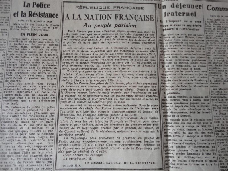 document d'epoque N°2 LIBERATION DE PARIS Dsc06015