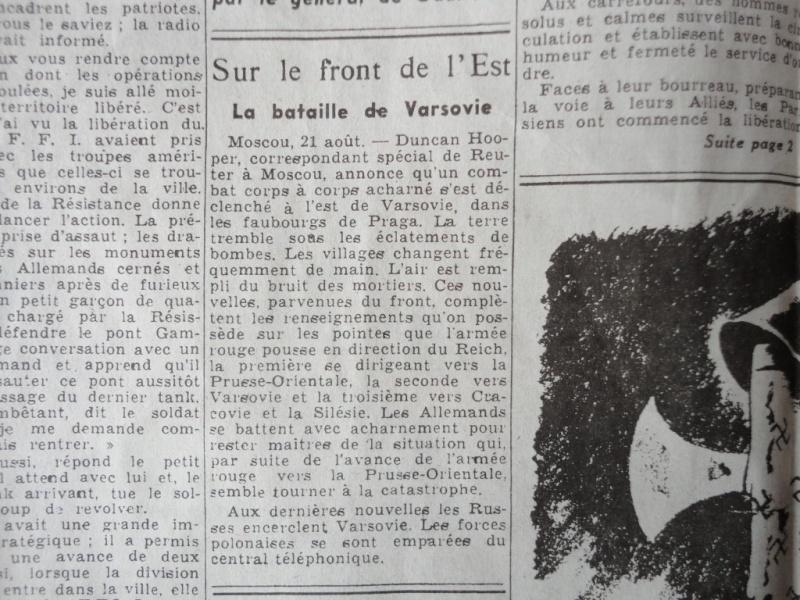 document d'epoque N°2 LIBERATION DE PARIS Dsc06016
