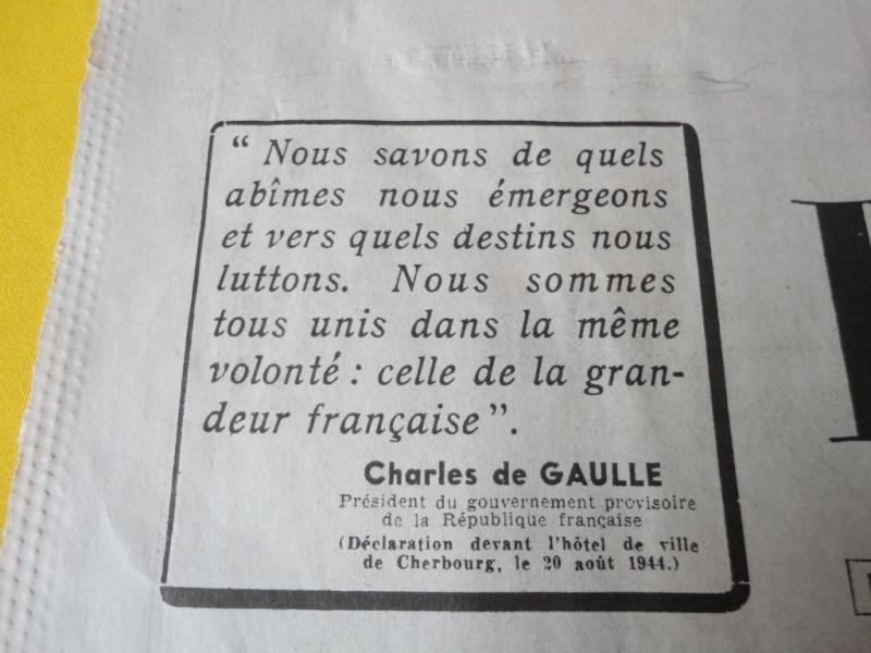 document d'epoque N°2 LIBERATION DE PARIS Dsc06017