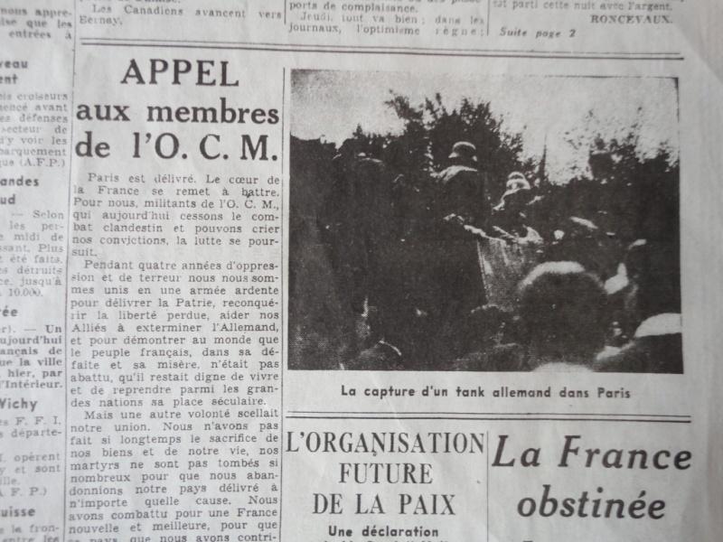 document d'epoque N°2 LIBERATION DE PARIS Dsc06018
