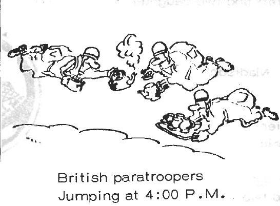 Provenant d'une newsletter de la 596th Airborne Engineer Co. 21308910