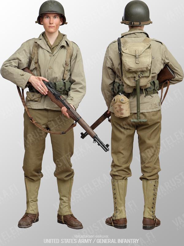tenue fantassin de l'armée américaine durant la période 1942/1945 3538a10
