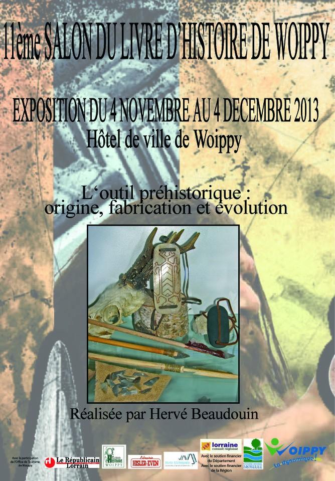 Expo de Préhistoire à l'Hôtel de VIlle de Woippy (Moselle), du 4 novembre au 4 décembre Affich10