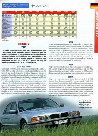 Essais Et Revues De Presse Bmw E38 Tous Modeles Page 3