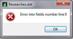 """Error into fields number line"" Error10"