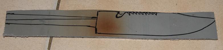 Tuto Fabriquer un couteau spécial airsoft en PVC Coutea13