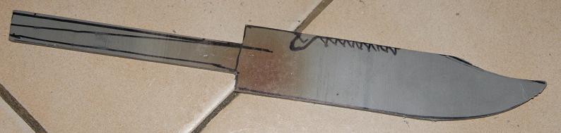 Tuto Fabriquer un couteau spécial airsoft en PVC Coutea18