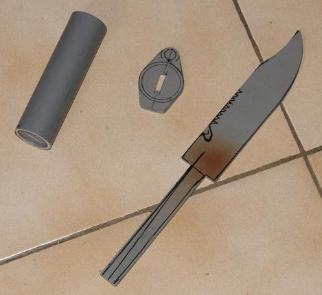 Tuto Fabriquer un couteau spécial airsoft en PVC Coutea25