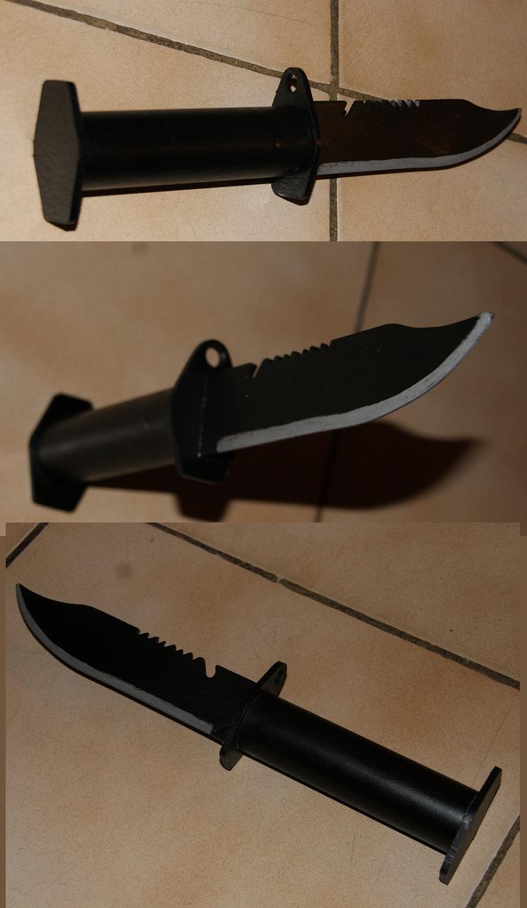 Tuto Fabriquer un couteau spécial airsoft en PVC Coutea38