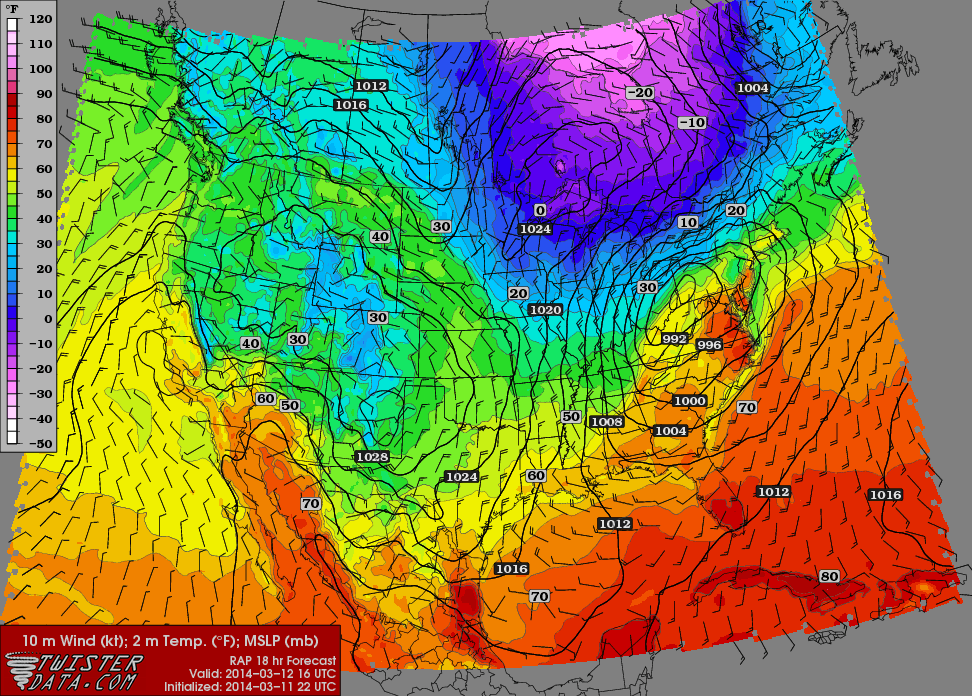 03/12 Obs. Thread, Possible T-storms 3_11ra10
