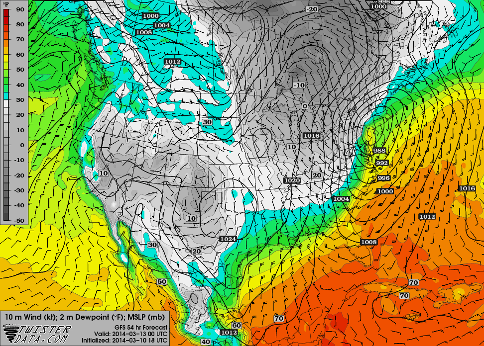BLOG: March 12th-13th Potential Snowstorm, Discussion Thread 1.0 - Page 10 Gfs_3_16