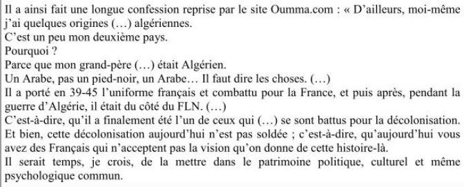 quand un ministre français revendique ses origines algériennes coté FLN...!!!! Monteb12
