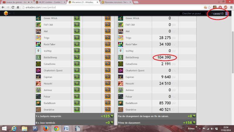 Nouveau concours : Sur un jeu en flash de mon choix :) Score_12