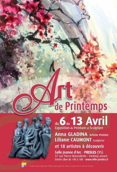 """6 Avril au 13 Avril,    6ème Salon """" Art de Printemps""""  de Presles Art_de10"""