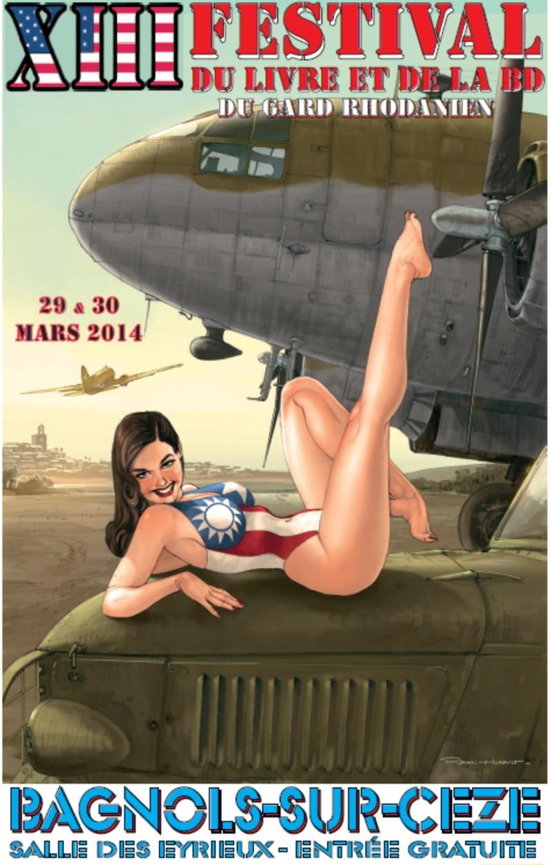 Festival du Livre et de la Bande Dessinee à Bagnols-sur-Ceze 29-30 mars 2014 Affich10