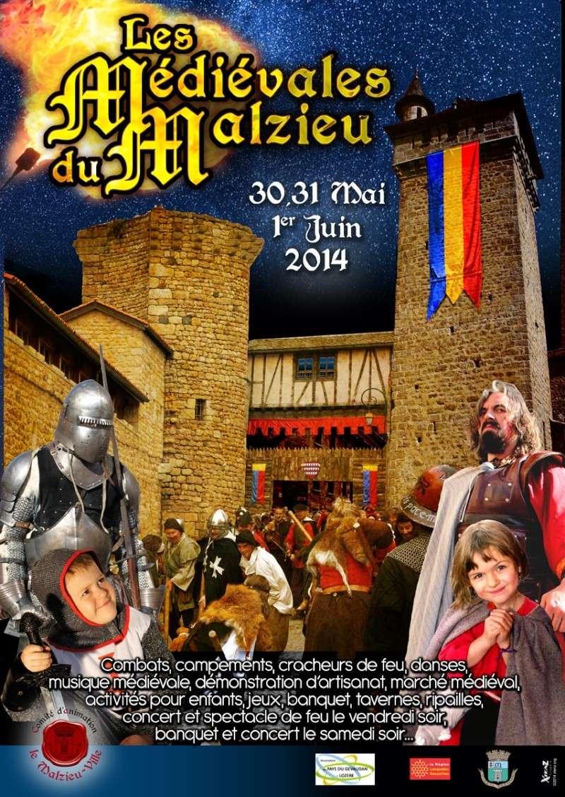 Les Médiévales du Malzieu-Ville 30/31 mai, 1er juin 2014 Les-me10