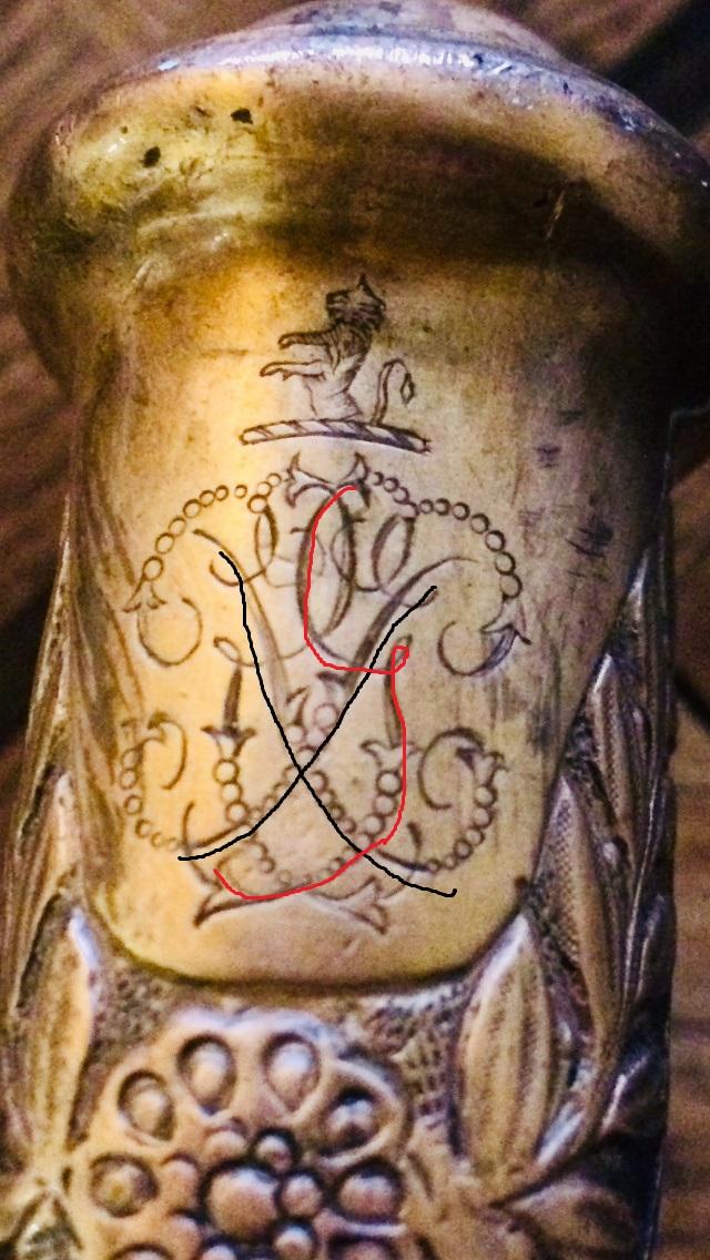 ARMOIRIES sur pommeau Sabre d'officier de cavalerie M1883 Image110