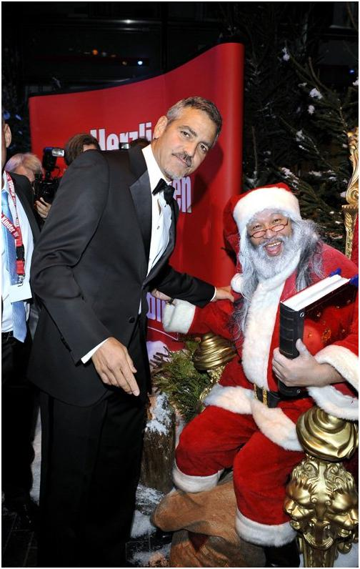 George Clooney in Berlin at the Ein Herz Fuer Kinder charity gala. December 2008 06-12_17