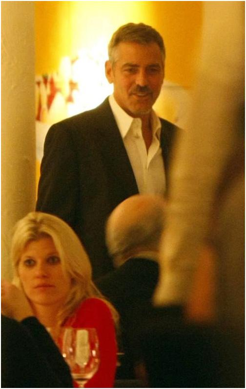 George Clooney in Berlin at the Ein Herz Fuer Kinder charity gala. December 2008 06-12_22