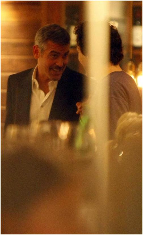 George Clooney in Berlin at the Ein Herz Fuer Kinder charity gala. December 2008 06-12_24