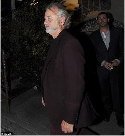 George Looks Dapper Dining Out With Bill Murray Dinner11