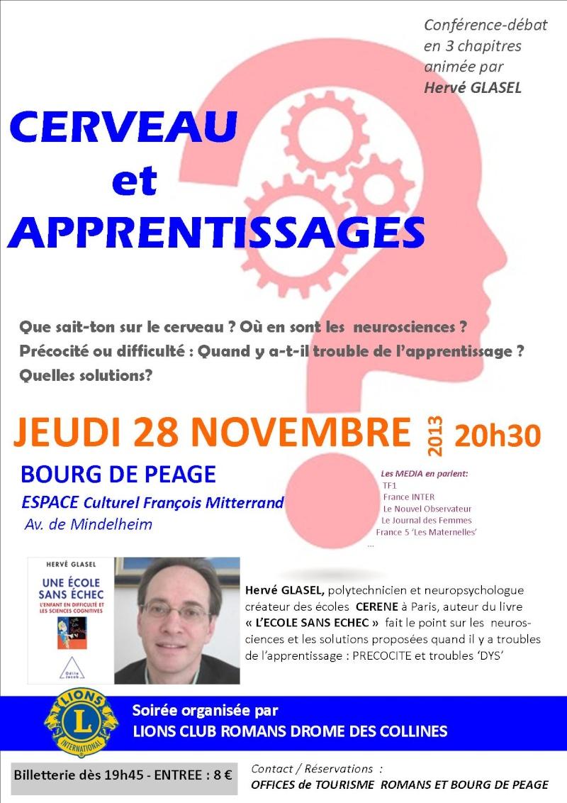 Conférence cerveau et apprentissages 28 11 13 Affich10