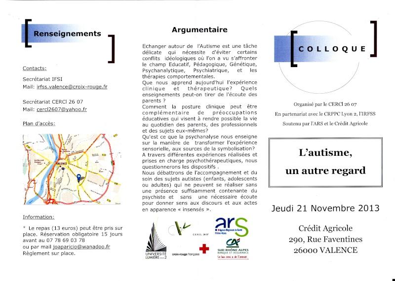 Colloque Autisme 21 Novembre 2013 Valence Autism10