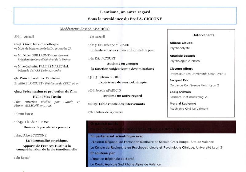 Colloque Autisme 21 Novembre 2013 Valence Autism11