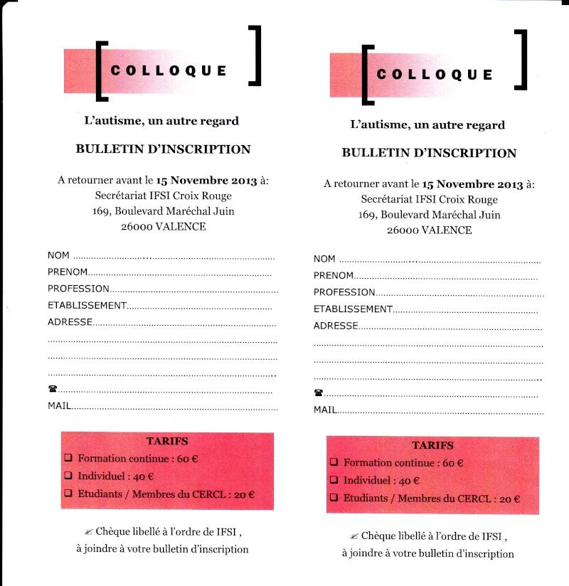 Colloque Autisme 21 Novembre 2013 Valence Inscri10