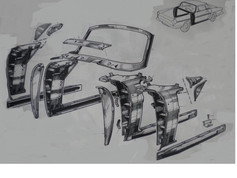 conception carrosserie de floride ou de caravelle 1-210