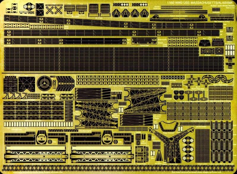 Revue de kit : USS Massachusetts BB-59 1/350 Trumpeter 350-4110