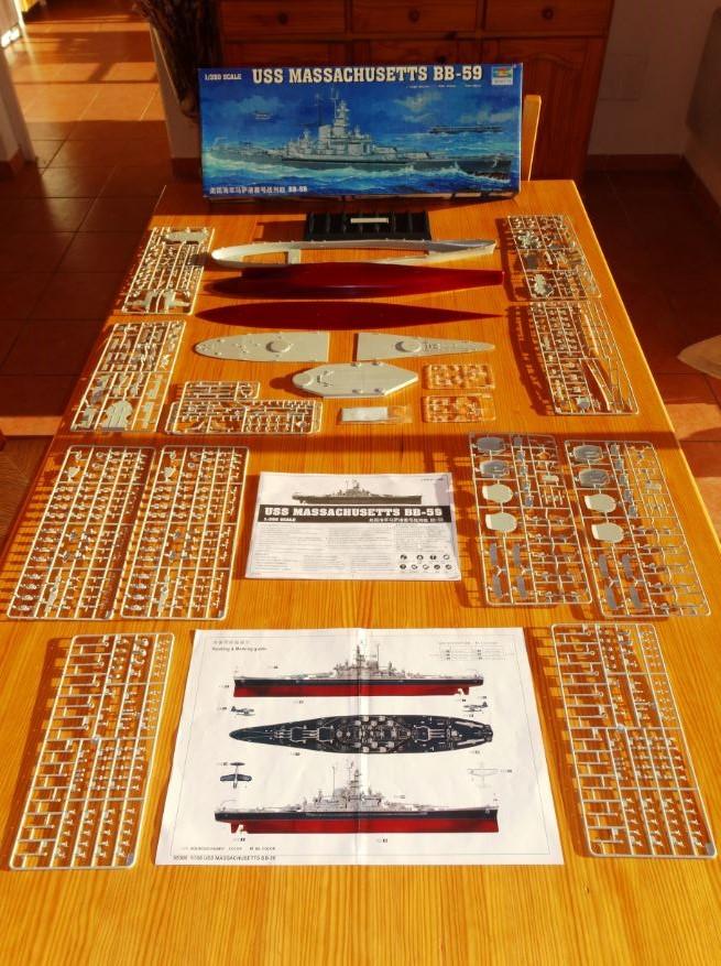 Revue de kit : USS Massachusetts BB-59 1/350 Trumpeter Massac11