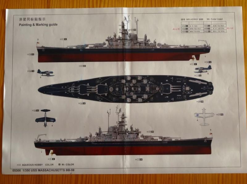 Revue de kit : USS Massachusetts BB-59 1/350 Trumpeter Massac13