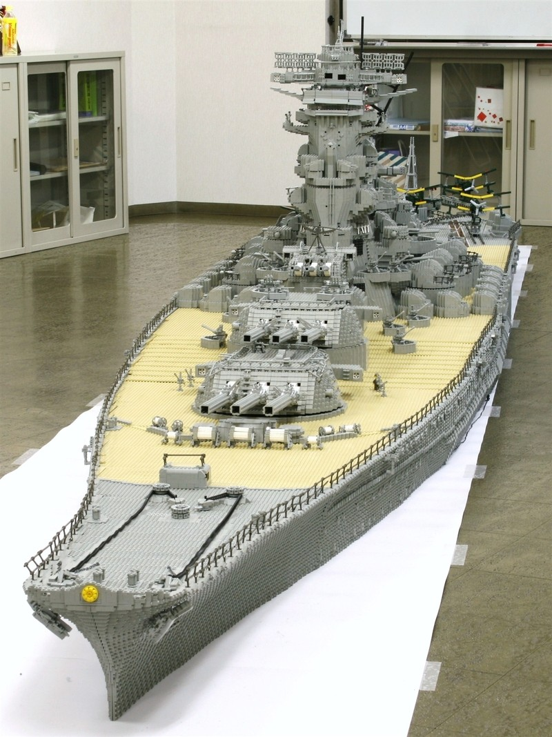 navires reproduits en lego Yamato10