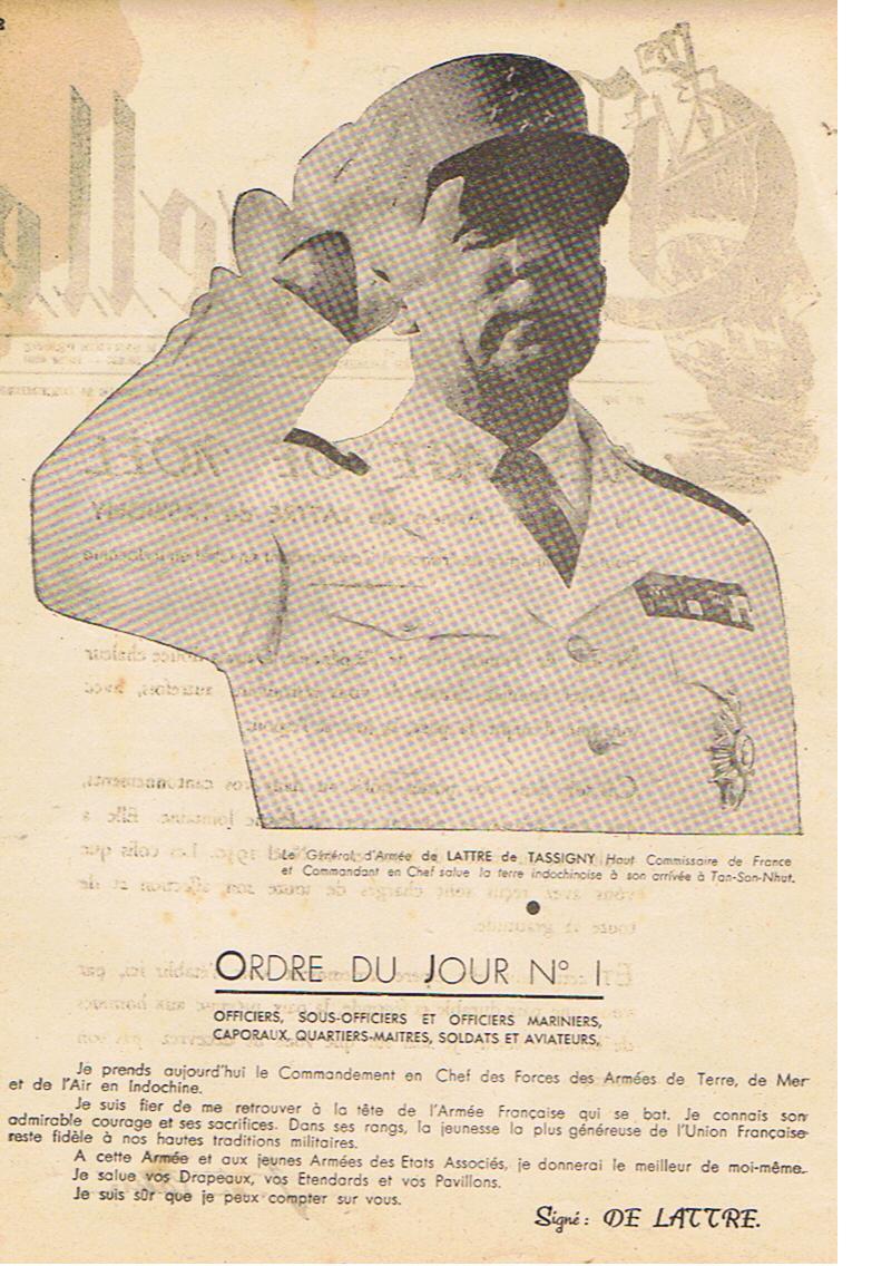 Général DeLatre 1950  Premiers messages Delatr11