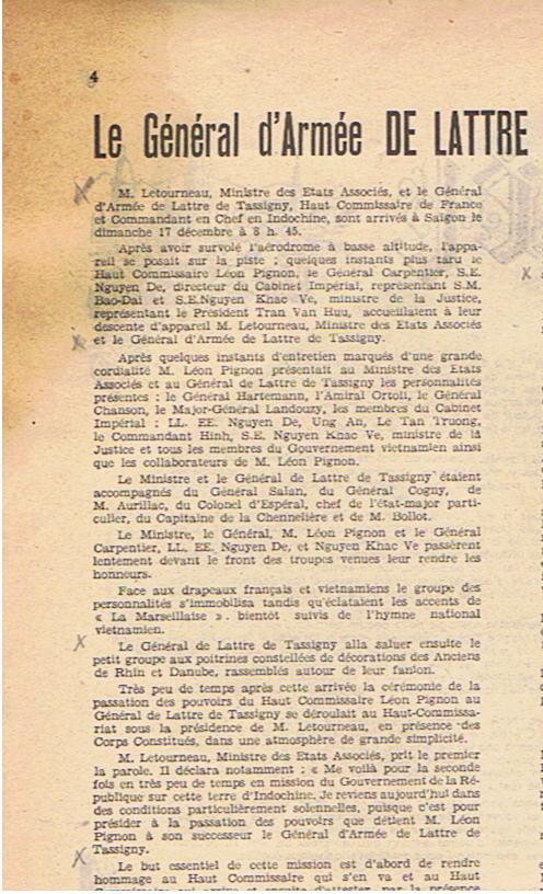 Général DeLatre 1950  Premiers messages Delatr13