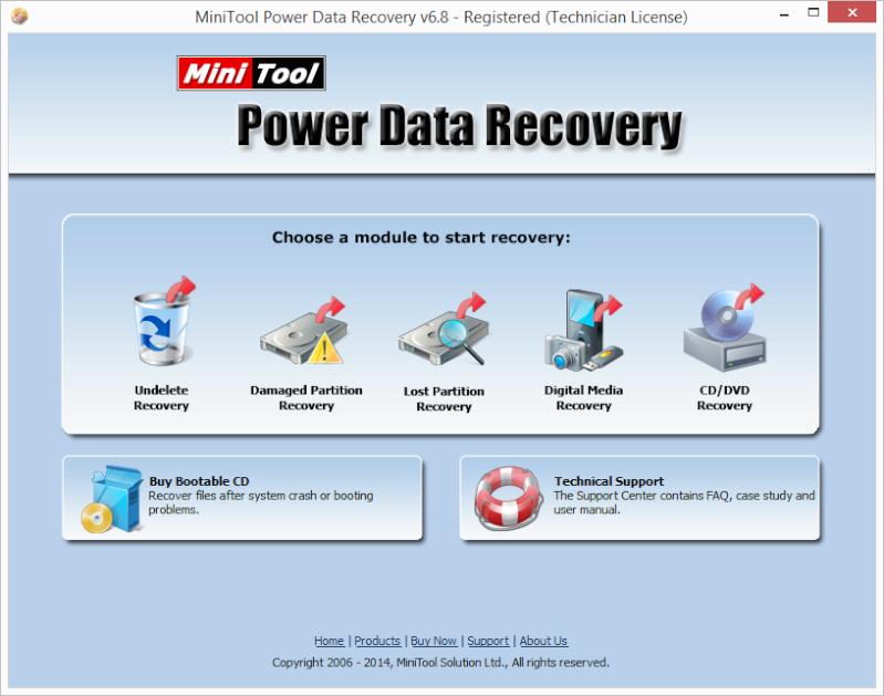 MiniTool Power Data Recovery - phần mềm hữu ích phục hồi tập tin Pdr6810