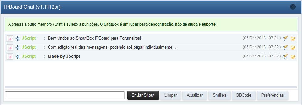 [TUTORIAL] Personalização para o Chatbox Shoutb14