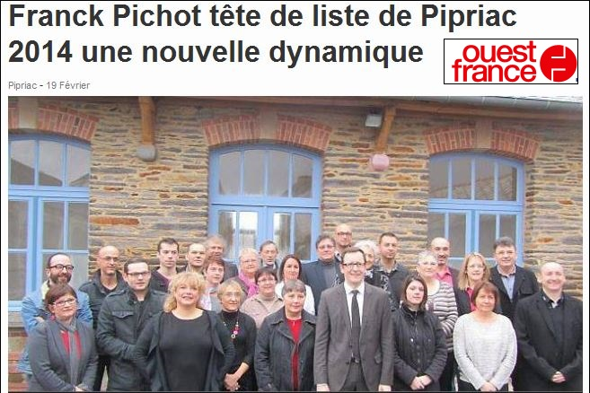 Les listes des élections municipales 2014 Pipriac Pipria10