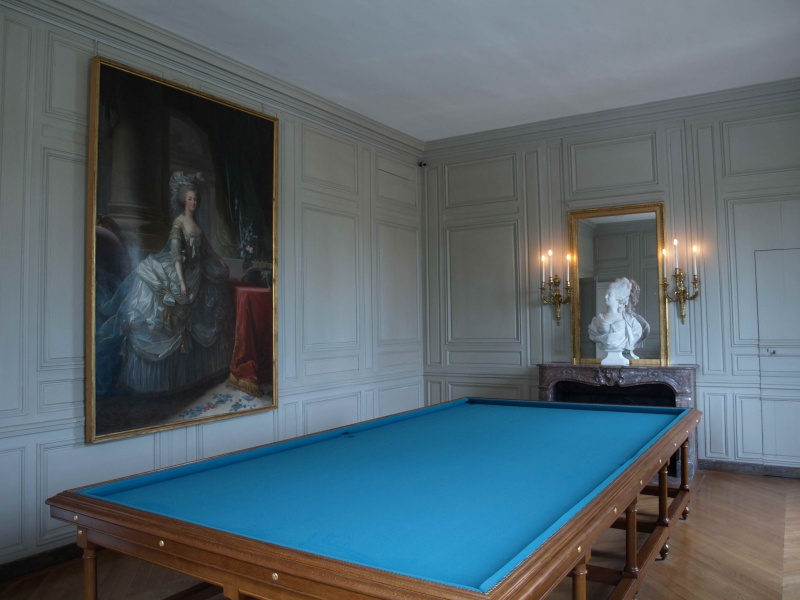 La visite du Petit Trianon: La salle du Billard 14_oct25