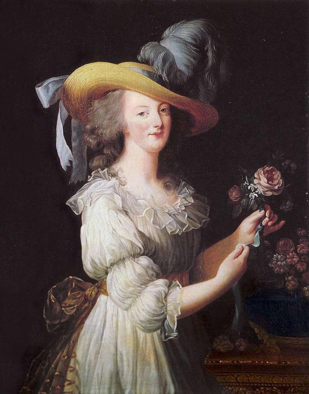 gaulle - Portraits de Marie-Antoinette vêtue d'une robe en chemise, dite en gaulle, par Elisabeth Vigée Le Brun (1783) 6a00d810
