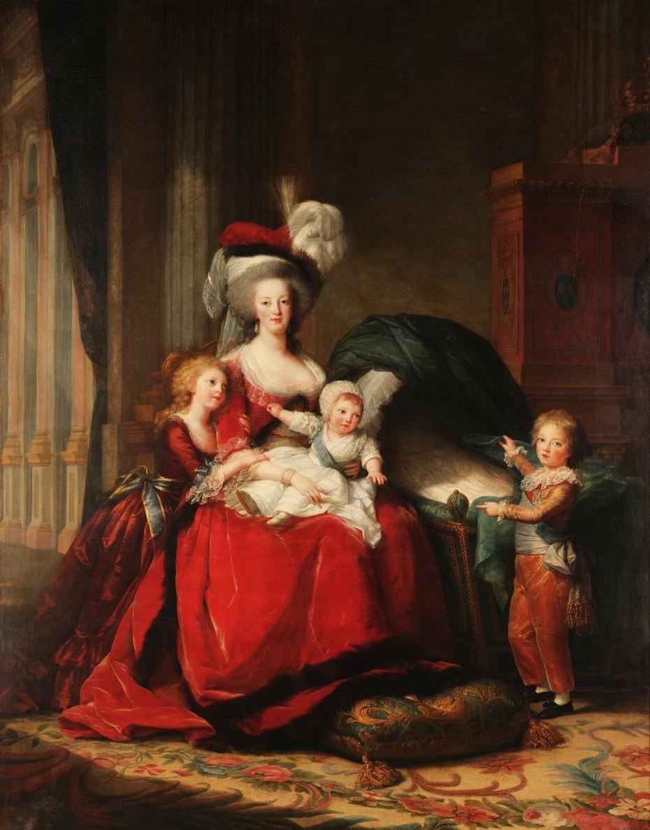 Marie-Antoinette et ses enfants, par Elisabeth Vigée Le Brun (1787) Ben15_10